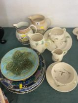 A qty of assorted plates; 2 Doulton, 3 Copeland etc.