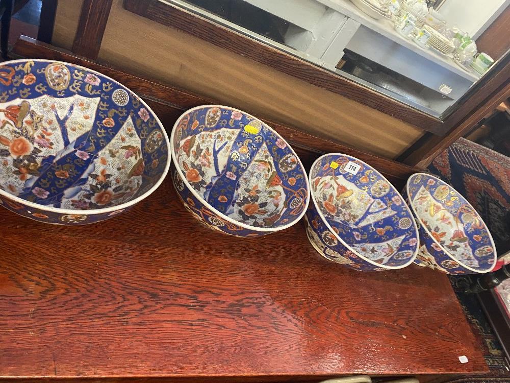 Four Imari style fruit bowls - Bild 3 aus 3