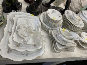 A large qty of Bavaria, stamped PMS, dinner ware that includes;12 Soup plates,24 Dinner Plates,