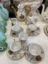 A decorative tea set