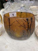 A Daum vase, signed to base,