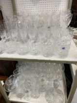 A qty of assorted glassware etc.