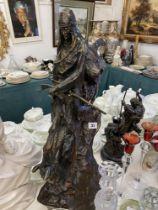 A large Remington case Bronze statue 'The Mountain man' 30cms high
