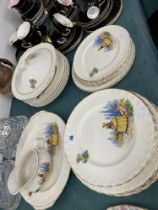 A part dinner set, plates etc.