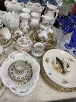A qty of china, Royal Albert, Coalport,