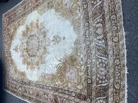 A large Persian rug,
