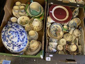 A Royal Cauldron tureen and assorted china