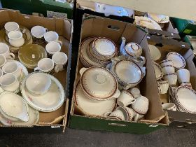 A Johnson Bros. part dinner set and other Staffordshire, IronStone tea ware etc.