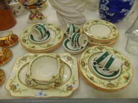 A Crown Ducal part dinner set and a Crown Ducal part coffee set