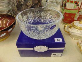 A Royal Doulton boxed crystal bowl