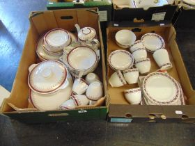 A Myott dinner and coffee set and a Staffordshire tea set