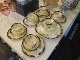A Hammersley part tea set, blue,