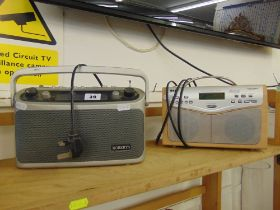 A Roberts radio and a Bush