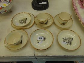 A small qty of antique nursery ware a.