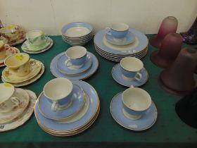 Blue/white/ gilt (Modern Doulton) part dinner set