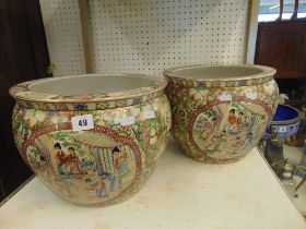 A pair of Canton fishbowl's,