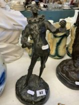 An old Bronze of a Jester