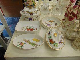 A qty of Evesham china