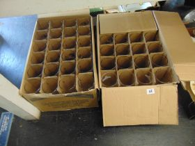 Two boxes of beer glasses,