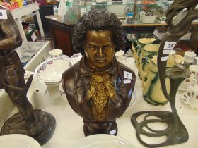 A bronze bust Beethoven
