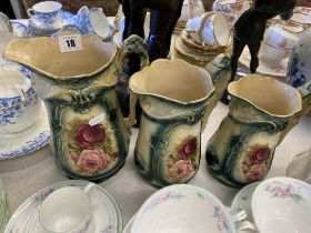 A set of three Victorian graduated jugs