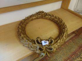 A gilt wreath