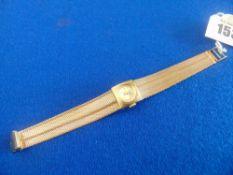 A 9ct gold 'Centaur' ladies watch,