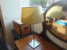 A Lumess chrome contemporary table lamp