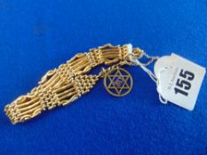 An 18ct gold bracelet, approx.