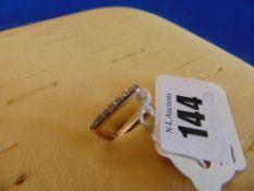 Rose Gold Diamond ladies square ring,