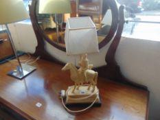 A warrior on Horseback table lamp