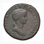 Agrippina (madre di Caligola) Sesterzio - Busto a d. - R/ SC nel campo – RIC (Claudio) 102 AE (g