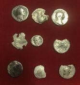 Lotto di nove monete imperiali. Sold as is no return