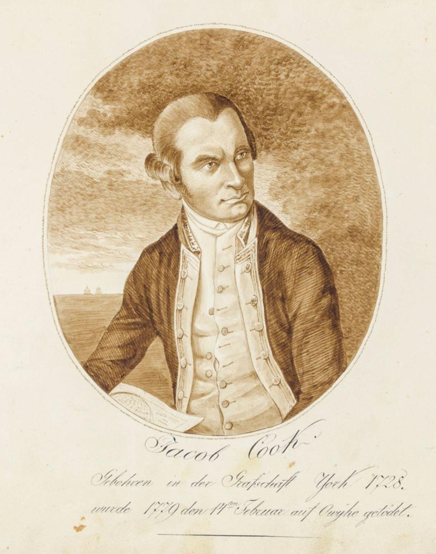 Australien und Ozeanien - - Richter, Franz nach John Webber. Scitzirte Gemählde zu Jacob Cooks - Image 3 of 10