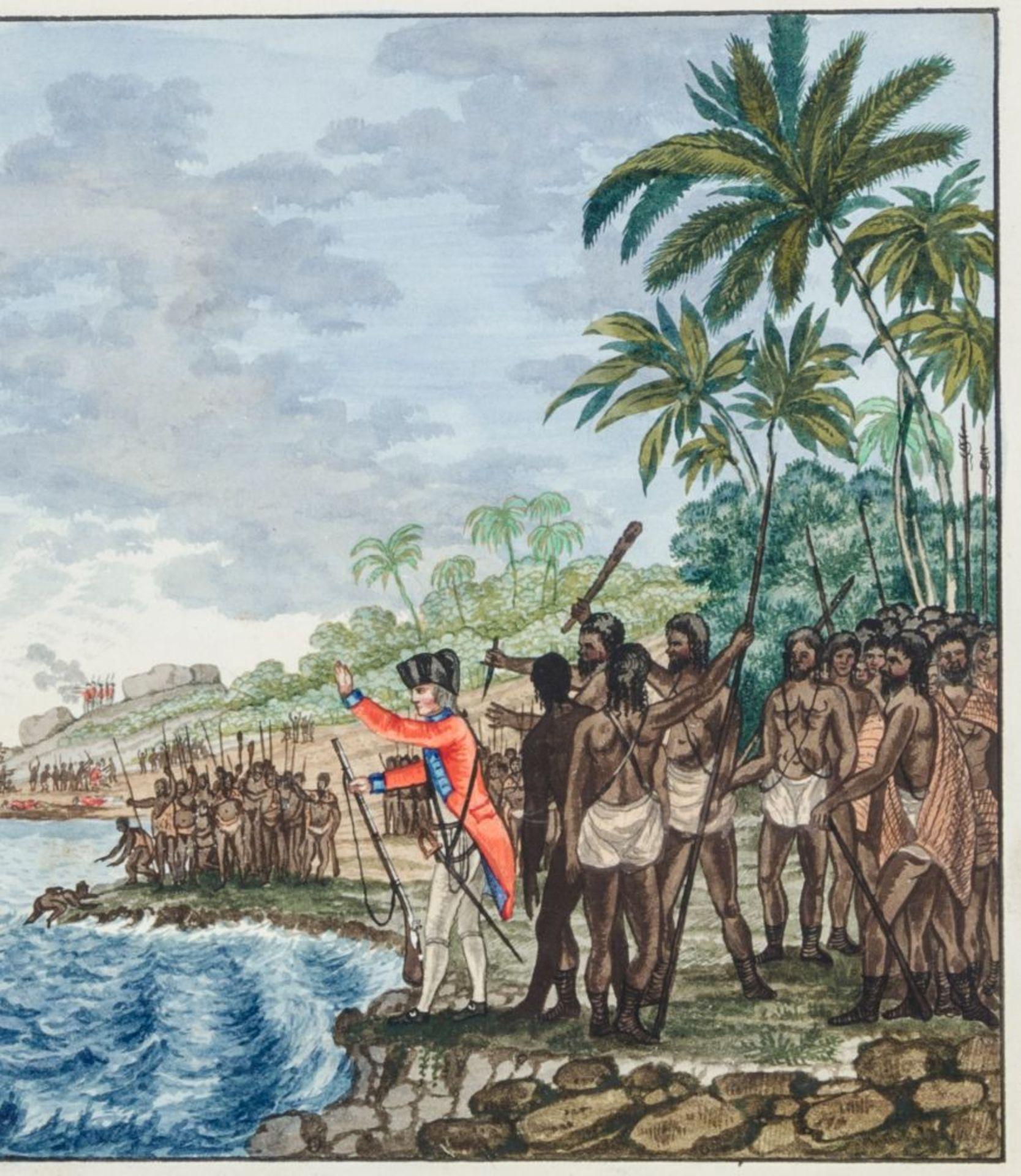 Australien und Ozeanien - - Richter, Franz nach John Webber. Scitzirte Gemählde zu Jacob Cooks - Image 9 of 10