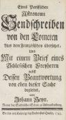Astronomie - - Heyn, Johann. Eines Parisischen Astronomi Sendschreiben von den Cometen aus dem