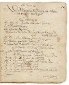 Dobritz / Anhalt-Zerbst - - Nachrichten von Dobritz, Nuthe und Hagendorf. Handschrift auf Papier.