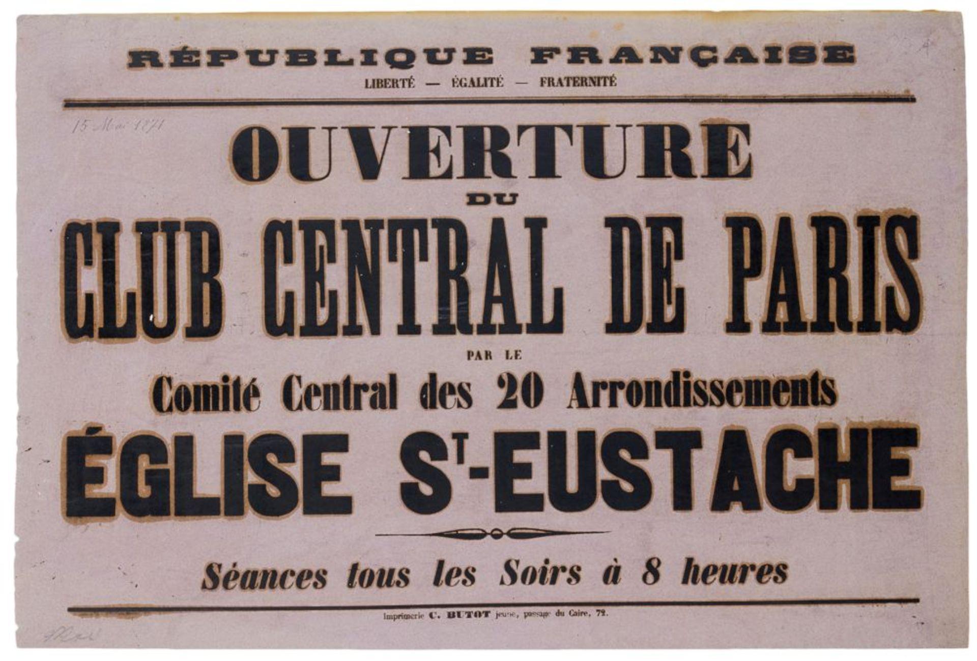 Pariser Kommune - - Sehr umfangreiche Plakatsammlung zur Pariser Commune. Mit 105 Plakaten, 3 - Image 2 of 10
