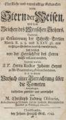 Astronomie - - Obbarius, Christoph Ludwig. Christliche und vernünfftige Gedancken vom Stern der
