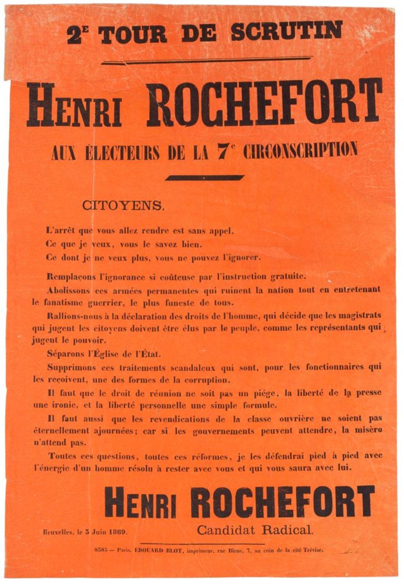 Pariser Kommune - - Sehr umfangreiche Plakatsammlung zur Pariser Commune. Mit 105 Plakaten, 3 - Image 6 of 10