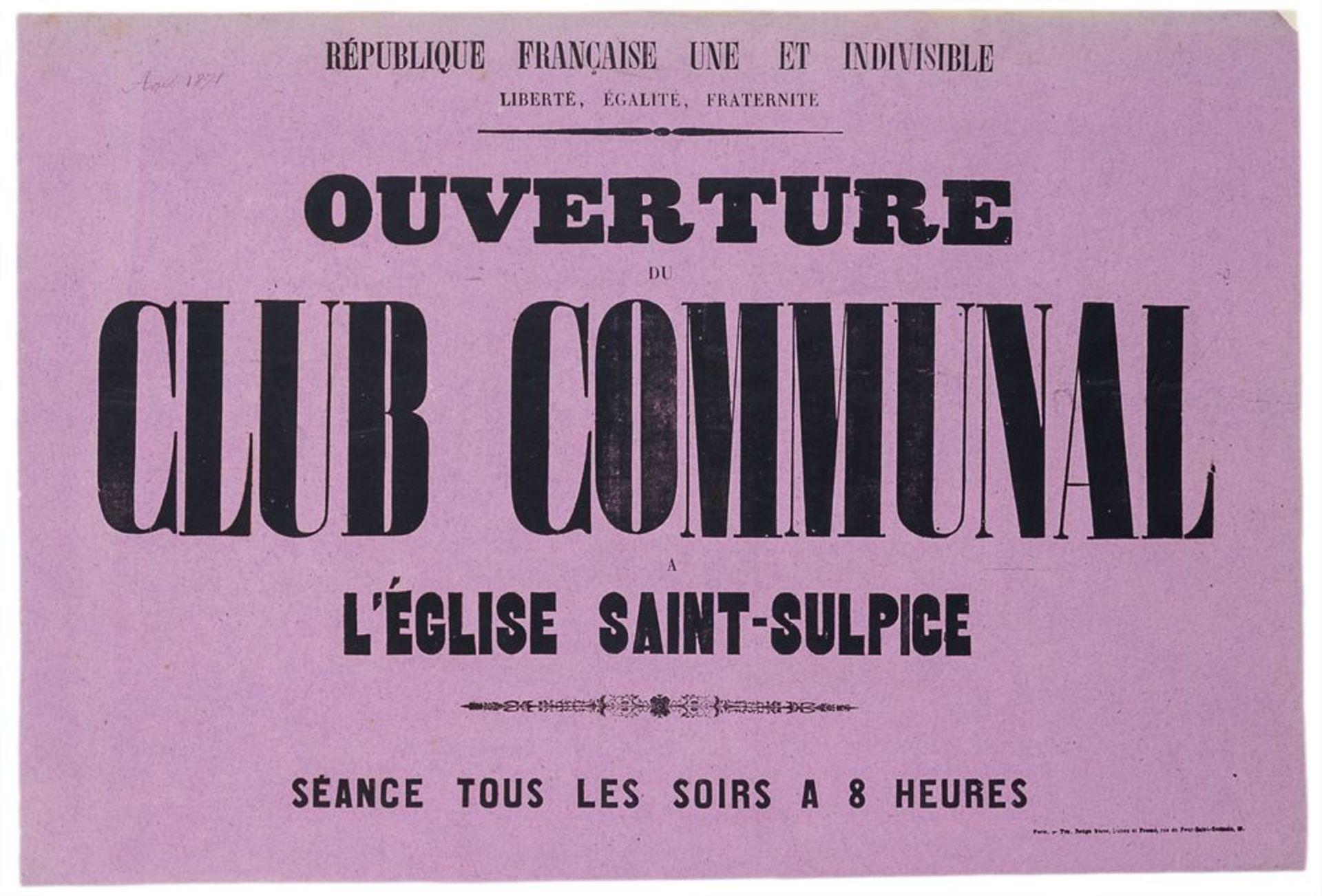 Pariser Kommune - - Sehr umfangreiche Plakatsammlung zur Pariser Commune. Mit 105 Plakaten, 3