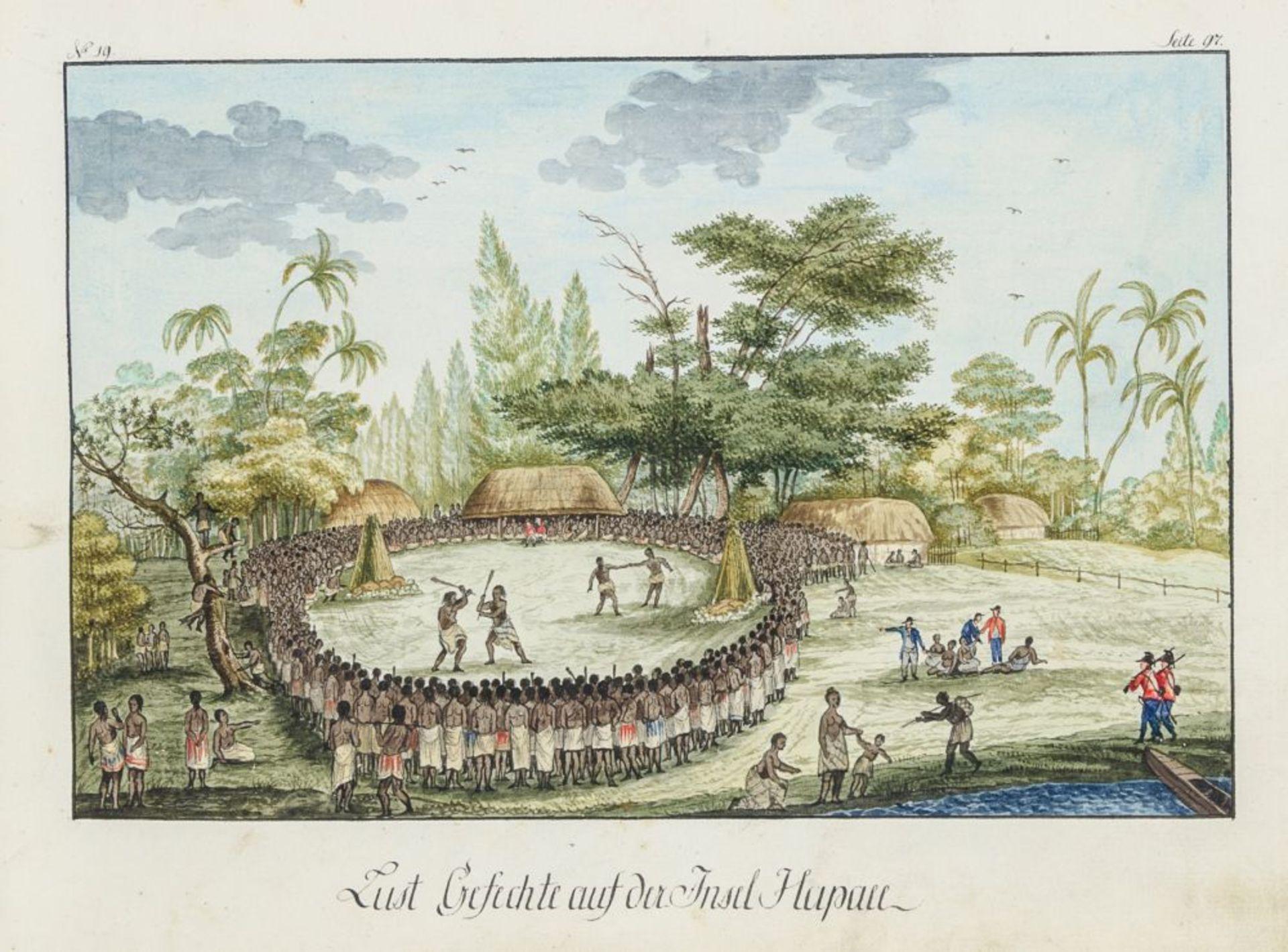 Australien und Ozeanien - - Richter, Franz nach John Webber. Scitzirte Gemählde zu Jacob Cooks - Image 4 of 10