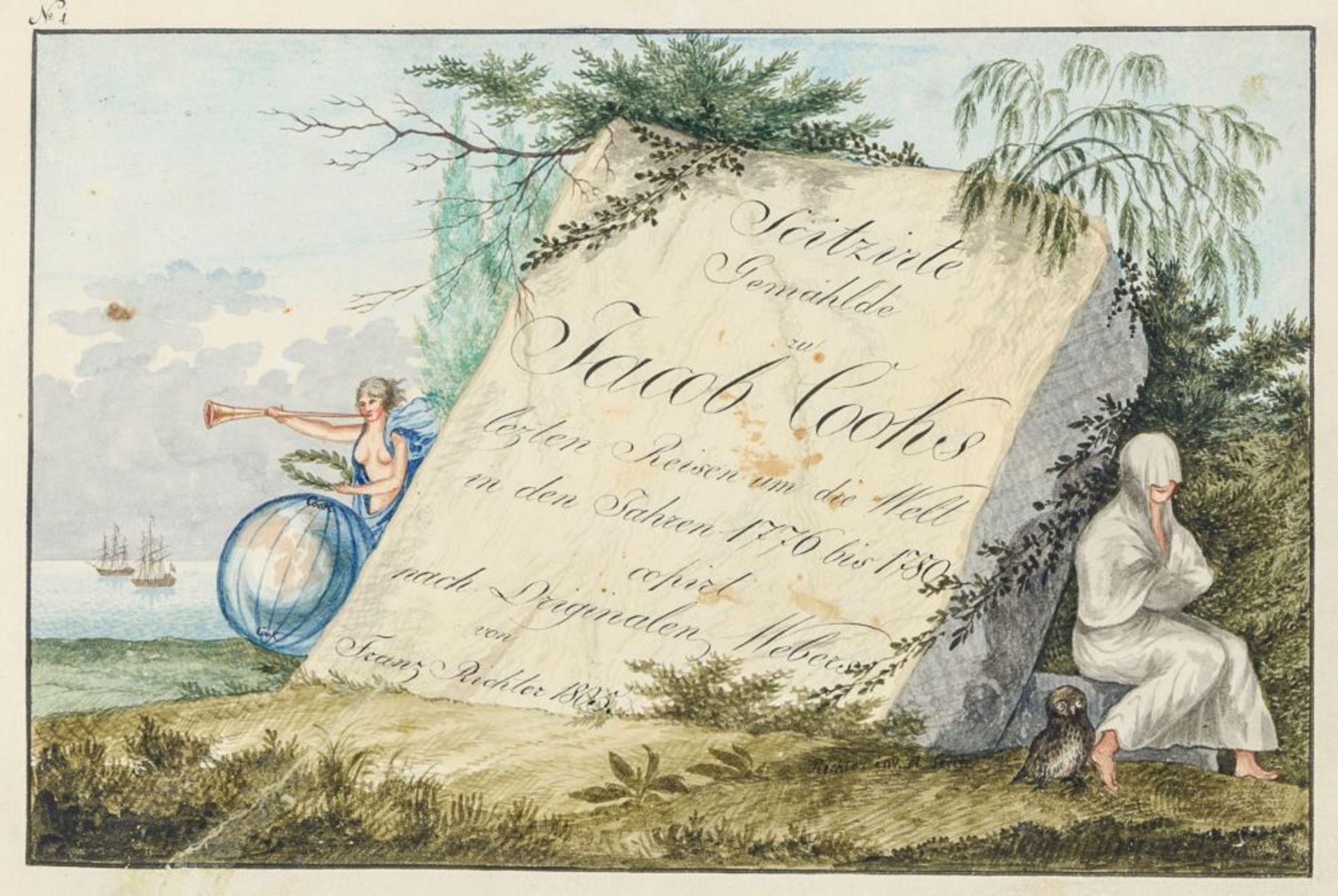 Australien und Ozeanien - - Richter, Franz nach John Webber. Scitzirte Gemählde zu Jacob Cooks - Image 2 of 10
