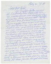 Albert-Lasard, Lou. Eigenhändiger Brief mit Unterschrift in deutscher Sprache an den Berliner Musik-