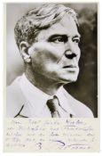 Nobelpreisträger - - Pasternak, Boris L. Karte mit eigenhändiger 5-zeiliger Widmung und Unterschrift