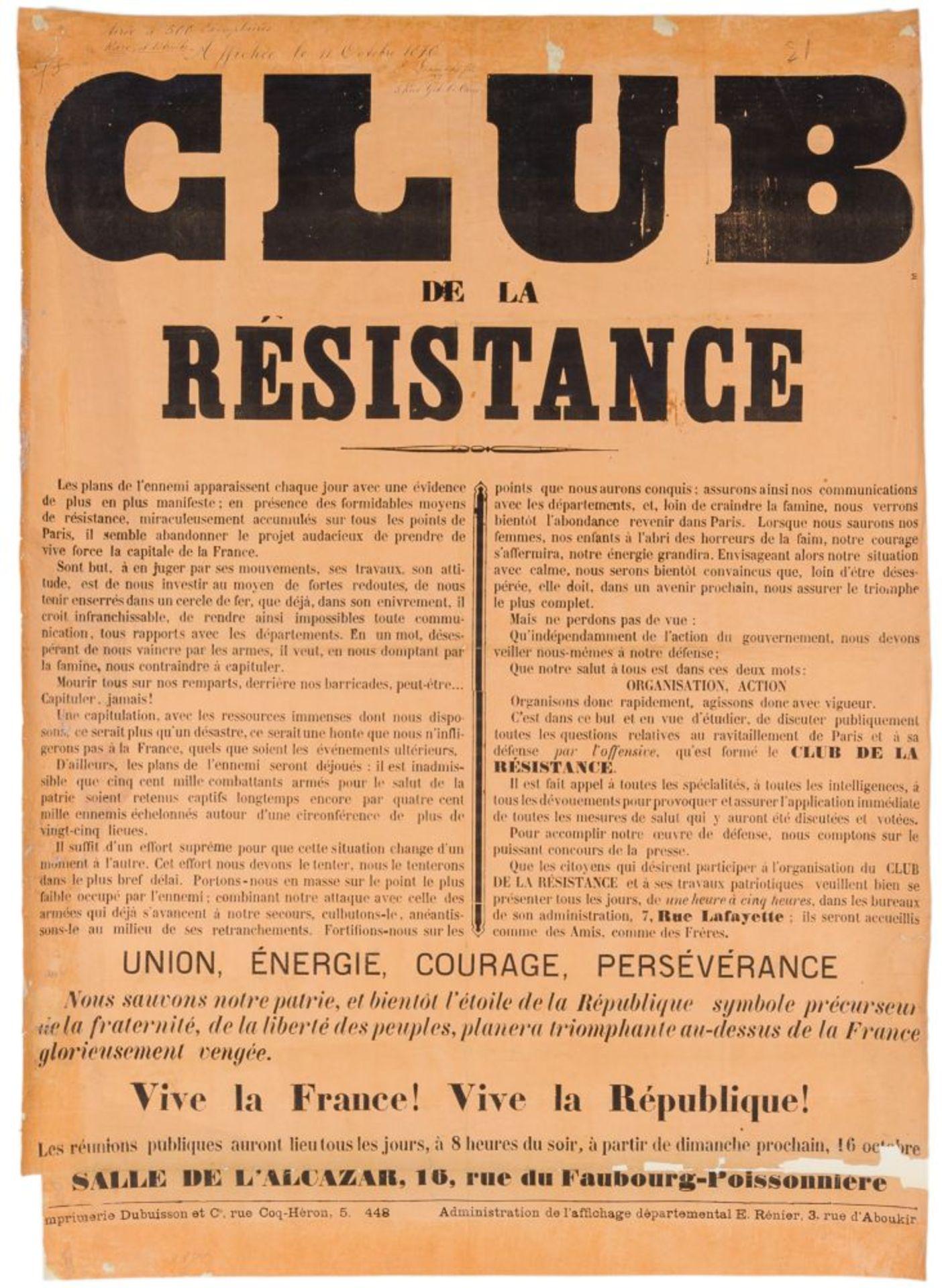Pariser Kommune - - Sehr umfangreiche Plakatsammlung zur Pariser Commune. Mit 105 Plakaten, 3 - Image 9 of 10