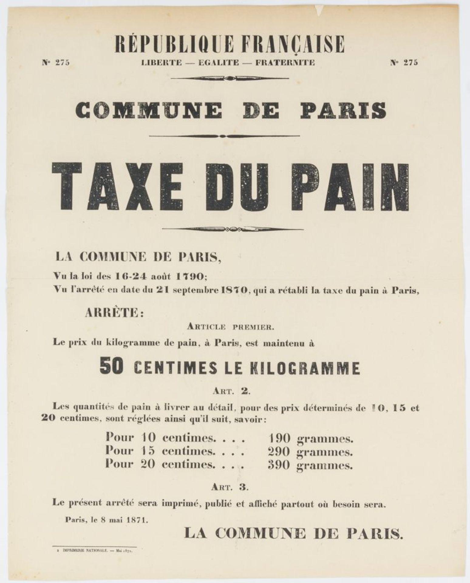 Pariser Kommune - - Sehr umfangreiche Plakatsammlung zur Pariser Commune. Mit 105 Plakaten, 3 - Image 3 of 10
