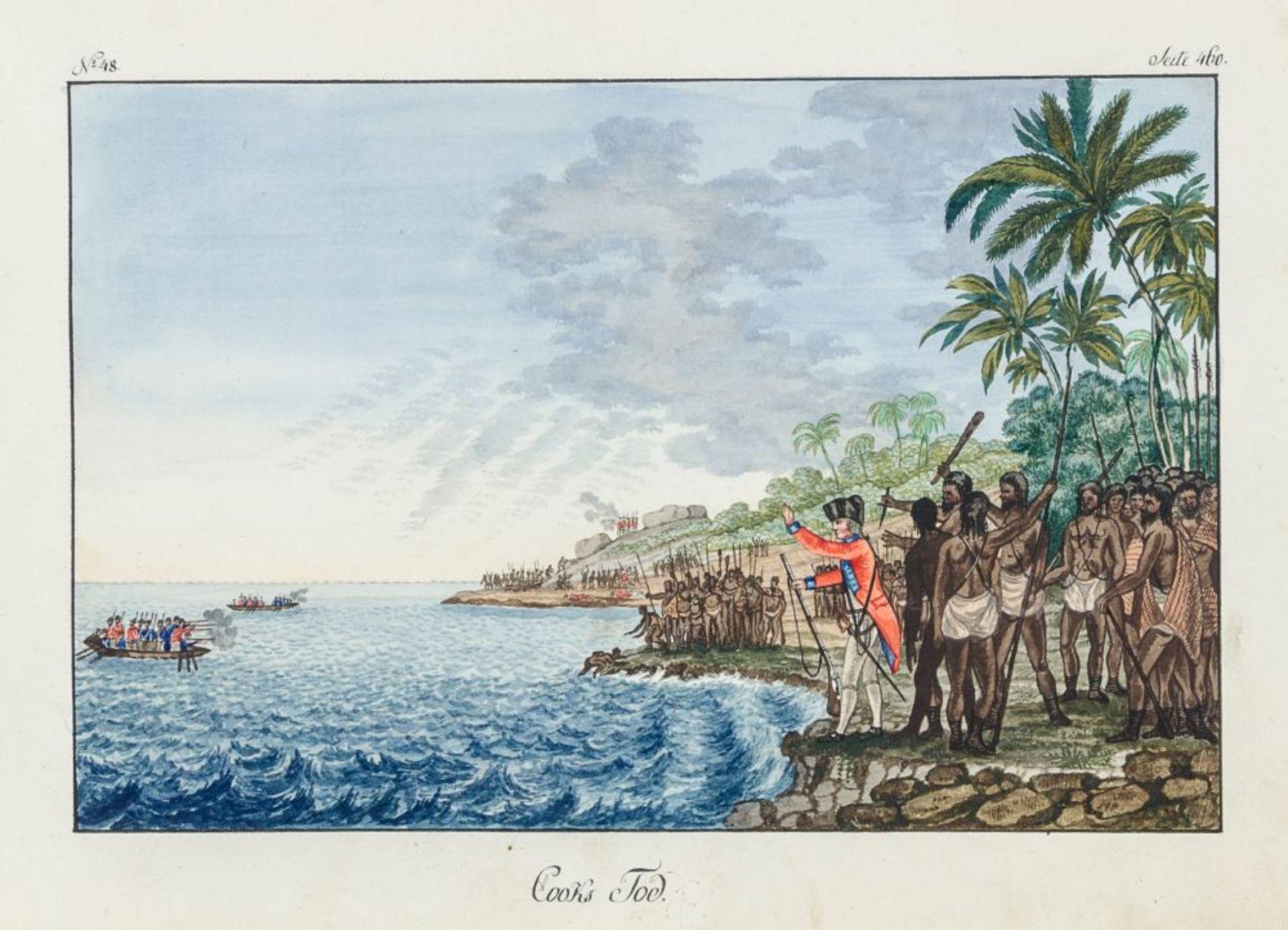 Australien und Ozeanien - - Richter, Franz nach John Webber. Scitzirte Gemählde zu Jacob Cooks - Image 8 of 10
