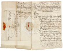 Sammlung von 50 handschriftlichen Briefen. Meist 17./18. Jahrhundert. Unterschiedliche Formate.