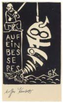 Kunert, Günter. 84 Autographen: 6 eigenhändige Briefe mit Unterschrift, 30 maschinenschriftliche
